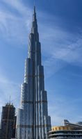 The Burj Khalifa currently still holding the record for the tallest building in the world
