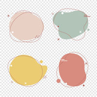 Simple Pastel Speech Bubbles Set Isolated