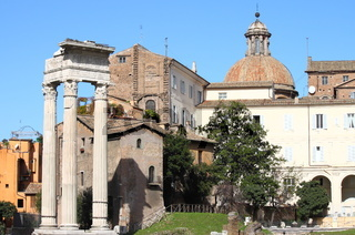 Beautiful urban scenic in Rome