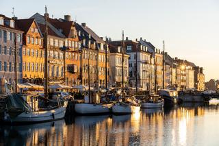 Famous Nyhavn in Copenhagen, Denmark