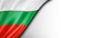 Bulgarian flag isolated on white banner