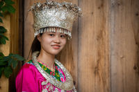 Chinese woman in traditional folk costume