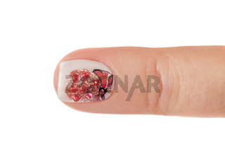 Finger nail with pattern