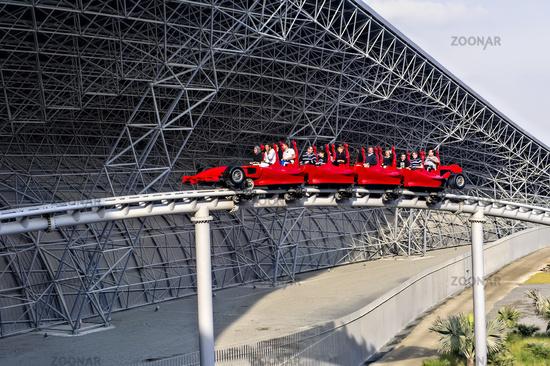 Abu Dhabi. United Arab Emirates. Ferrari World Amusement Park