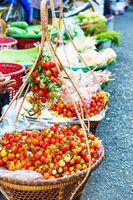 Fresh tomatoes at asian street market