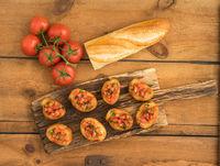 Bruschetta with baguette