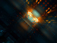Light at the end of the tunnel - abstract digitally generated 3d illustration