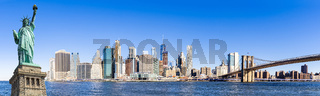 Panorama lower manhattan New York