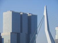 De Rotterdam Häuser und Erasmusbrücke - Rotterdam