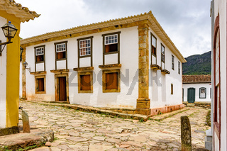 Streets of the old and historic city of Tiradentes