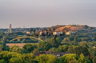 View from the Mottbruchhalde in Gladbeck, North Rhine-Westfalia, Germany