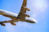 Flugzeug von Lufthansa beim Start