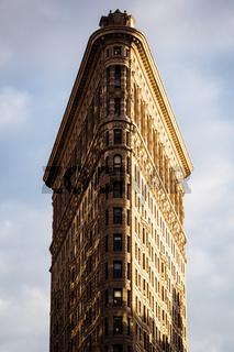 The Flatiron building of New York