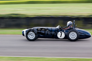 GOODWOOD, WEST SUSSEX/UK - SEPTEMBER 14 : Vintage Racing at Goodwood on September 14, 2012. One unidentified person
