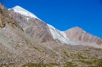 Mountains and glacier. Tien Shan