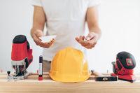 Builder unable to work during the coronavirus Covid 19 lockdown