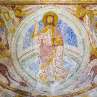 Romanesque wall-painting of Majestas Domini