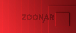 Red modern background with three dimensional steps