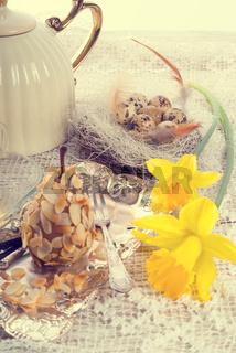almonds pear and tea - vintage