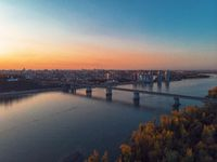 Aerial shot of view to Barnaul city.