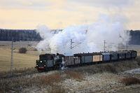 Vintage Steam Train Ukko-Pekka at Speed