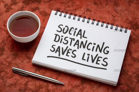 social distancing saves lives reminder