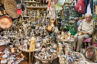 Jerusalem Israel. Junk dealer in the old city