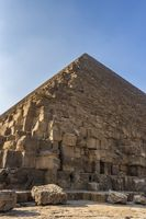 Bottom up view of the Great Pyramid of Giza