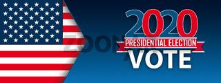 Vote 2020 USA Flag Arrow Header
