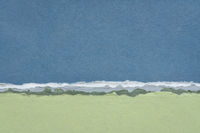 abstract landscape in blue and green pastel tones