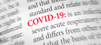 Definition of the word COVID-19  in a dictionary