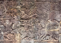 Khmer army on the march - Siem Reap