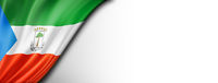 Equatorial Guinea flag isolated on white banner