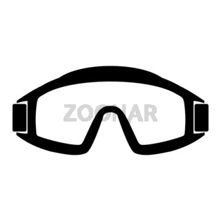 Paintball goggles simple icon