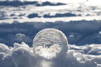 Glas-Kugel-Foto im Winter