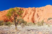Closeup of Uluru in Northern Territory Australia