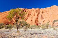Closeup of Uluru in Northern Territory Australia