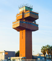 Control Tower airport. Barcelona, Spain