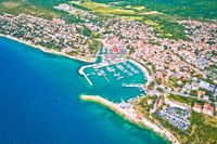 Town of Novi Vinodolski aerial panoramic view