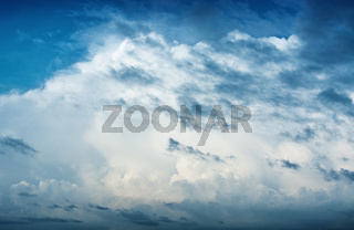 Sky with clouds before the storm - nature background