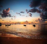 Sunset and beautiful beach