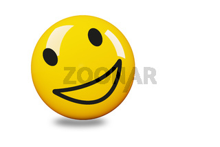 Single colored smiley face, 3D illustration