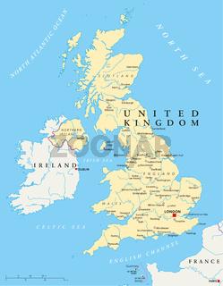 Vereinigtes Königreich Landkarte