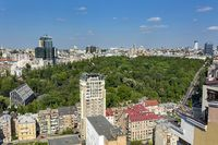 Park aerial view, Kiev Ukraine, Botanical Garden.