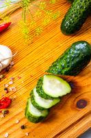 fresh pickled cucumber with garlic, (polish malosolne)