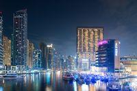 Modern buildings in Dubai Marina, Dubai, UAE.