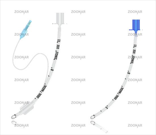 Tracheal - endotracheal - intubation - tube. Vector illustration