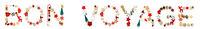 Colorful Christmas Decoration Letter Building Bon Voyage Means Good Trip