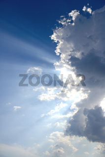 Sky with rays