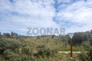 Schild 'Dünenschutzgebiet'